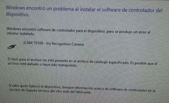 error-windows-driver