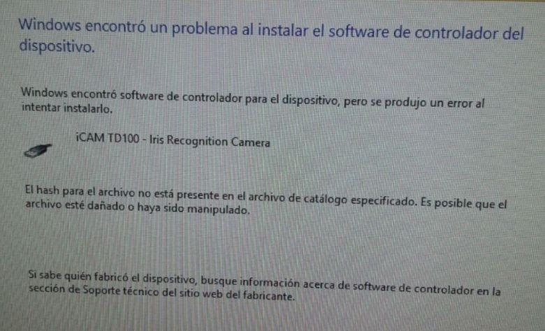 error-windows-driver